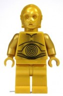 sw161aG Star Wars:C-3PO - Pearl Gold with Pearl Gold Hands gebruikt loc