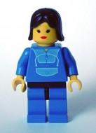 trn014G Jogging Suit - blauw benen, Black Female Hair gebruikt loc