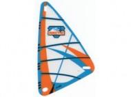 x772px2-12G Zeil 9x15 Oranje en blauw Arctic patroon (plastic) transparant gebruikt *5D000