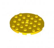 11213-3 Platte plaat 6x6 rond geel NIEUW loc