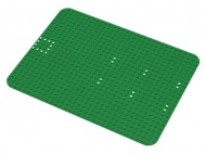 10p05-6G Basisplaat 24x32 sterk afgeronde hoek (classic) met witte stippen  set 351/545 Groen gebruikt loc