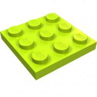 11212-34 Platte plaat 3x3 lime NIEUW *5K0000