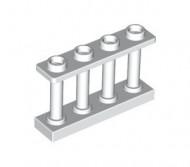 15332-1 Balustrade-hek 1x4x2 met VIER noppen bovenop wit NIEUW loc L16-9