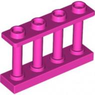 15332-71 Balustrade-hek 1x4x2 met VIER noppen bovenop magenta NIEUW *1L16-9