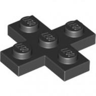 15397-11 Platte plaat 3x3 kruis zwart NIEUW *1L0000