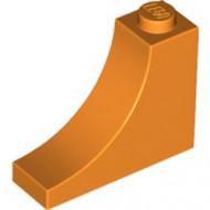 18653-4 Steen,omgekeerde halve boog 1x3x2 oranje NIEUW *