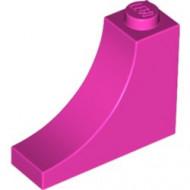 18653-47 Steen,omgekeerde halve boog 1x3x2 roze, donker NIEUW *