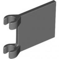 2335-85 Vlag 2x2 vierkant met twee clips grijs, donker (blauwachtig) NIEUW *1L058