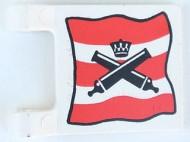 2335pb002-1G Vlag 2x2 Imperial Guard- Gekruisde kanonnen, in kader wit gebruikt *