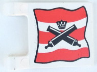 2335pb002-1G Vlag 2x2 Imperial Guard- Gekruisde kanonnen, in kader Wit gebruikt loc