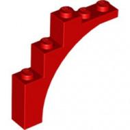2339-5 Steen, halve boog 1x5x4 (trapsgewijs) rood NIEUW *