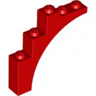 2339-5G Steen, halve boog 1x5x4 (trapsgewijs) rood gebruikt *R7