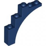 2339-63 Steen, halve boog 1x5x4 (trapsgewijs) blauw, donker NIEUW *