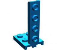 2422-7 Verbindingsstuk 2x2- 1x4 staand Blauw NIEUW loc