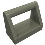2432-10 Tegel 1x2 met hendel bovenop donker, grijs (klassiek) NIEUW *1L321