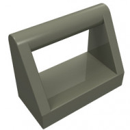 2432-10 Tegel 1x2 met hendel bovenop donker, grijs (klassiek) NIEUW *1L0000