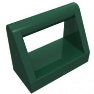 2432-80 Tegel 1x2 met hendel bovenop groen, donker NIEUW *1L0000