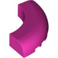 24599-47 Steen 5x5x1 gebogen (Macaroni) roze, donker NIEUW *