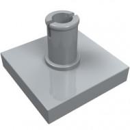 2460-86 Tegel 2x2 met pin grijs, licht (blauwachtig) NIEUW *1L0000