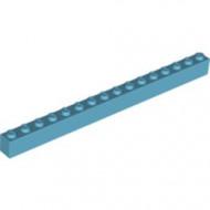 2465-156 Steen 1x16 blauw, middenazuur NIEUW *5K0000