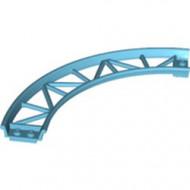 25061-156 Baan rollercoaster 90 graden gebogen blauw, middenazuur NIEUW *