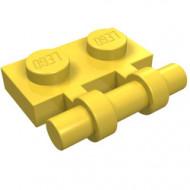 2540-3 Platte plaat 1x2 met OPEN hendel geel NIEUW *1L293/8