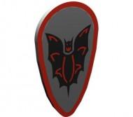 2586p4f-9G Schild ovaal met vleermuis rood kader Grijs, licht (classic) gebruikt loc