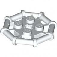 30033-1 Platte plaat 2x2 met 8-kantig frame wit NIEUW *1L0327