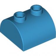 30165-153 Steen 2x2 halfronde kop, 2 noppen bovenop blauw, donkerazuur NIEUW *1L0000