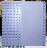 30225-85G Basisplaat 16x16 met weg grijs, donker (blauwachtig) gebruikt *4T000