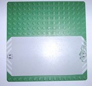 30225pb01-6G Basisplaat 16x16 met weg en politie- badges groen gebruikt *4T000