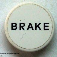 """30261pb011-1G Verkeersbord- Rond """"BRAKE"""" CLIP ON (zie paal 30256) wit NIEUW *"""