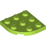 30357-34 Platte plaat 3x3 afgeronde hoek lime NIEUW *5G000