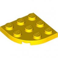 30357-3G Platte plaat 3x3 afgeronde hoek geel gebruikt *5G000