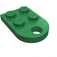 3176-6 Platte plaat 2x2 met gat voor trekhaak (oog) groen NIEUW *1L324