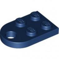 3176-63 Platte plaat 2x2 met gat voor trekhaak (oog) blauw, donker NIEUW *1B234