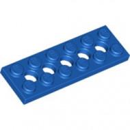 32001-7G Technic, Plaat 2x6 met gaten blauw gebruikt *