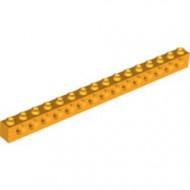 3703-110 Technic, steen 1x16 met 15 gaten oranje, lichthelder NIEUW *