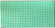 3857-38G Basisplaat 16x32 (geen nopgaten onder) groen, licht gebruikt *5T000