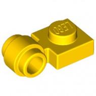 4081b-3G Platte plaat 1x1 met gesloten clip (dikke ring) geel gebruikt *1D001