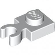4085-1 Platte plaat 1x1 met verticale clip (loc 01-06) wit NIEUW *1L286/3