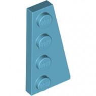 41769-156 Wig plaat 4x2 rechts blauw, middenazuur NIEUW *1L223+4