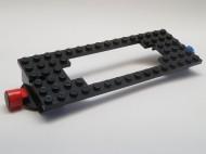 4178a-11G Trein, basis 6x16 met uitsnede motor met magneten zwart gebruikt *