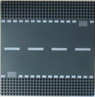 44336pb01-85G Wegenplaat 32x32 recht grijs, donker (blauwachtig) gebruikt *3K000