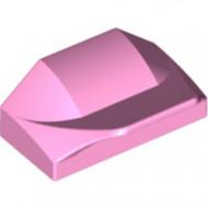 47458-104 Steen 1x1x2/3 Afronding vleugel roze, helder gebruikt *1L0000