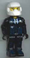 4j002 Policeman met Motorcycle helm (4 Juniors) NIEUW loc