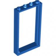 60596-7G Deurpost /raamframe 1x4x6 (2 gaatjes bovenin) blauw gebruikt *1L0000