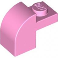 6091-104 Steen 2x1 met afgeronde kop en nop roze, helder NIEUW *1L0000