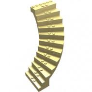 6169-33 Grote trap 13x13x12 geboden (pakketzending) geel, licht gebruikt *5D0000