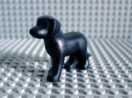 6201-11 Hond staand zwart NIEUW *0D000